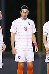08 October 2013: Clemson's Manolo Sanchez. The University of North Carolina Tar Heels hosted the Clemson University Tigers at Fetzer Field in Chapel Hill, NC in a 2013 NCAA Division I Men's Soccer match. Clemson won the game 2-1 in overtime.