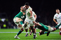 Billy Vunipola of England takes on the Ireland defence. RBS Six Nations match between England and Ireland on February 27, 2016 at Twickenham Stadium in London, England. Photo by: Patrick Khachfe / Onside Images