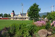 Conway Scenic Railroad in North Conway, New Hampshire USA.