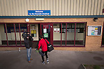 Connah's Quay Nomads 1 Llandudno 1, 20/09/2016. Deeside Stadium, Welsh Premier League. A home player being filmed as he arrives at the Deeside Stadium before Connah's Quay Nomads played Llandudno in a Welsh Premier League match. Both clubs represented Wales in the 2016-17 Europa League, the first time either had competed in European competition. The match ended in a 1-1 draw, watched by 181 spectators. Photo by Colin McPherson.