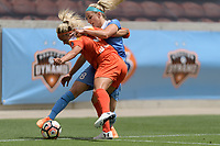 Houston, TX - Saturday April 15, 2017: Julie Ertz, Rachel Daly during a regular season National Women's Soccer League (NWSL) match between the Houston Dash and the Chicago Red Stars at BBVA Compass Stadium.