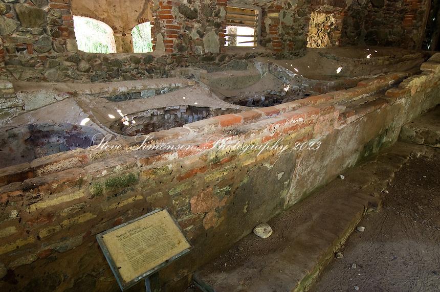 The boiling room at the Reef Bay sugar plantation. Virgin Islands National Park<br /> St. John, US Virgin Islands