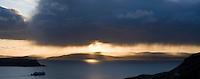 Caledonian Macbrayne ferry in Uig bay, Isle of Skye, Scotland