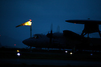 French Navy E-2C Hawkeye of 4 squadron on night sortie. BOLD AVENGER 2007 (BAR 07), a NATO  air exercise at Ørland Main Air Station, Norway. BAR 07 involved air forces from 13 NATO member nations: Belgium, Canada, the Czech Republic, France, Germany, Greece, Norway, Poland, Romania, Spain, Turkey, the United Kingdom and the United States of America. The exercise was designed to provide training for units in tactical air operations, involving over 100 aircraft, including combat, tanker and airborne early warning aircraft and about 1,450 personnel.