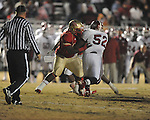 Lafayette High's D'Andre Greer (62) vs. Louisville in MHSAA 4A playoff action at William L. Buford Field in Oxford, Miss. on Friday, November 18, 2011. Lafayette won 28-6 and will advance to play Amory.