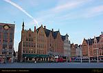 Market Square at Sunrise, Bruges, Brugge, Belgium