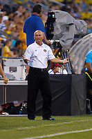 24 JULY 2010:  Dynamo Coach Dominic Kinnear during MLS soccer game between Houston Dynamo vs Columbus Crew at Crew Stadium in Columbus, Ohio on July 3, 2010. Columbus defeated the Dynamo 3-0.