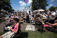 Crowds enjoy the weather and the action at Match Race Germany 2010. World Match Racing Tour. Langenargen, Germany. 23 May 2010. Photo: Gareth Cooke/Subzero Images/WMRT