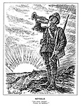 """Reveille. """"Aux armes, citoyens! Formez vos bataillons!"""" (a French bugler sounds the call to battle amid the sunrise of the Fourth Republic: To Arms Citizens! Form Your Batallions!)"""