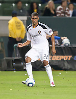 CARSON, CA – April 2, 2011: LA Galaxy defender Leonardo (22) during the match between LA Galaxy and Philadelphia Union at the Home Depot Center, March 26, 2011 in Carson, California. Final score LA Galaxy 1, Philadelphia Union 0.