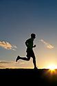 PE00264-00...WASHINGTON - Pierce Prohovost jogging in Edmonds. (MR# P9)