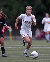 Boston College midfielder Kristen Mewis (19) brings the ball forward. Boston College defeated North Carolina State,1-0, on Newton Campus Field, on October 23, 2011.