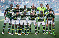 Carson, CA. - April 10, 2016: The LA Galaxy and Portland Timbers played to a 1-1 draw in a Major League Soccer (MLS) Western Conference game at StubHub Center.
