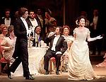 1999 - LA TRAVIATA - Alfredo (David Miller) and Violetta (Elizabeth Futral) meet at an elegent parisian party in Act 1 of Opera Pacific's La Traviata.
