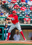 11 March 2016: Philadelphia Phillies outfielder Peter Bourjos in action during a Spring Training pre-season game against the Atlanta Braves at Champion Stadium in the ESPN Wide World of Sports Complex in Kissimmee, Florida. The Phillies defeated the Braves 9-2 in Grapefruit League play. Mandatory Credit: Ed Wolfstein Photo *** RAW (NEF) Image File Available ***