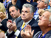 United States Representative Peter King (Republican of New York) applauds the proceedings at the 2016 Republican National Convention at the Quicken Loans Arena in Cleveland, Ohio on Tuesday, July 19, 2916.<br /> Credit: Ron Sachs / CNP<br /> (RESTRICTION: NO New York or New Jersey Newspapers or newspapers within a 75 mile radius of New York City)