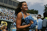 01 September 2012: A member of the UNC dance team. The University of North Carolina Tar Heels played the Elon University Phoenix at Kenan Memorial Stadium in Chapel Hill, North Carolina in a 2012 NCAA Division I Football game. UNC won the game 62-0.