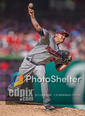 8 June 2013: Minnesota Twins pitcher Kevin Correia on the mound against the Washington Nationals at Nationals Park in Washington, DC. The Twins edged out the Nationals 4-3 in 11 innings. Mandatory Credit: Ed Wolfstein Photo *** RAW (NEF) Image File Available ***