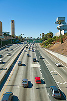 Traffic, Hollywood, 101 freeway, Los Angeles, Cathedral, Lady, Angels, High School, visual, performing, arts, CA-101 Freeway,