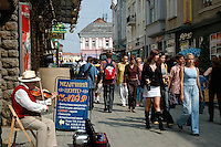 On the streets of downtown Uzhgorod