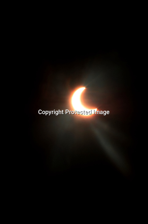 Stock photo of a partial eclipse