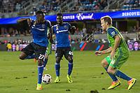 Santa Clara, CA - September 10, 2016: The San Jose Earthquakes tied 1-1 with Seattle Sounders FC at the Avaya Stadium in Santa Clara.