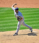 28 May 2011: San Diego Padres pitcher Heath Bell on the mound against the Washington Nationals at Nationals Park in Washington, District of Columbia. The Padres defeated the Nationals 2-1 to even up their 3-game series. Mandatory Credit: Ed Wolfstein Photo