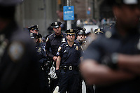 NEW YORK, NY - APRIL 20: NYPD police officers attends a Occupy Wall Street protest on April 20, 2012 in New York City