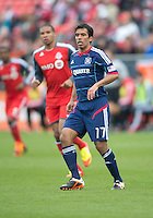21 April 2012: Chicago Fire midfielder Pavel Pardo #17 in action during a game between the Chicago Fire and Toronto FC at BMO Field in Toronto..The Chicago Fire won 3-2....