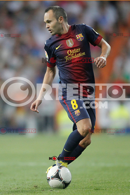 Barcelona's Andr&eacute;s Iniesta during Super Copa of Spain on Agost 29th 2012...Photo:  (ALTERPHOTOS/Ricky) Super Cup match. August 29, 2012. <br />