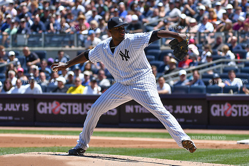 Michael Pineda (Yankees),<br /> JUNE 12, 2016 - MLB :<br /> Michael Pineda of the New York Yankees during the Major League Baseball game against the Detroit Tigers at Yankee Stadium in the Bronx, New York, United States. (Photo by Hiroaki Yamaguchi/AFLO)