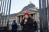 Tribute to the Queen Fabiola of Belgium - The coffin is shown at the Royal Palace - Belgium