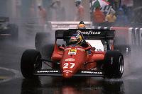 MONTE CARLO, MONACO - JUNE 3: Michele Alboreto of Italy drives his Ferrari F126C4 076/Ferrari 031 during the Grand Prix de Monaco FIA Formula One World Championship race on the temporary Circuit de Monaco in Monte Carlo, Monaco, on June 3, 1984.
