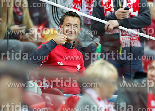 14.10.2014, Nationalstadium, Warsaw, POL, UEFA Euro Qualifikation, Polen vs Schottland, Gruppe D, im Bild LUKASZ PIELORZ // during the UEFA EURO 2016 Qualifier group D match between Poland and Scotland at the Nationalstadium in Warsaw, Poland on 2014/10/14. EXPA Pictures &copy; 2014, PhotoCredit: EXPA/ Newspix/ Michal Chwieduk<br /> <br /> *****ATTENTION - for AUT, SLO, CRO, SRB, BIH, MAZ, TUR, SUI, SWE only*****