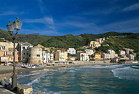 Italy, Liguria, Italian Riviera, Laigueglia: resort at the Riviera delle Palme with Bastione