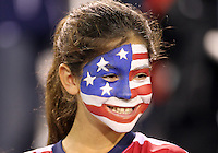 BOCA RATON, FL - DECEMBER 15, 2012: Fan of the USA WNT of during an international friendly match against China at FAU Stadium, in Boca Raton, Florida, on Saturday, December 15, 2012. USA won 4-1.