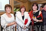 Enjoying the Lee Strand Social at Ballygarry House Hotel on Saturday were Tina O'Brien,  Moira Lyons and Doreen Pierce