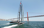 America's Cup, AC 45 Energy Team in preparation the start of the America's Cup World Series in Cascais portugal.