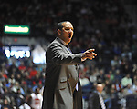 "Ole Miss vs. Auburn coach Tony Barbee at the C.M. ""Tad"" Smith Coliseum on Saturday, February 23, 2013.  (AP Photo/Oxford Eagle, Bruce Newman)"
