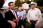 Democratic congressional challenger Eric Swalwell talks to supporters at a campaign house party in Castro Valley, Calif., September 21, 2012.