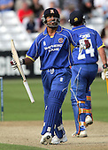 Ravi Bopara celebrates 50 for Essex - Essex Eagles vs Middlesex Crusaders - Friends Provident Trophy at Ford County Ground, Chelmsford - 20/05/07 - MANDATORY CREDIT:  Gavin Ellis / TGSPHOTO - IMAGES USED WILL BE INVOICED AT STANDARD RATES