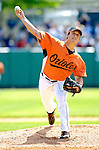 21 May 2007: Baltimore Orioles pitcher Jason Berken in action against the Toronto Blue Jays at Doubleday Field during Baseball's Annual Hall of Fame Game in Cooperstown, NY. The Orioles defeated the Blue Jays 13-7 in front of a sellout crowd of 9,791 at the historical ballpark...Mandatory Credit: Ed Wolfstein Photo