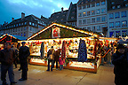 Christmas stall market at night - Strasbourg France