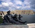 AA00415-01...FRANCE - Statue on the Water Terrace and the Palace of Versailes.