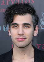 WEST HOLLYWOOD, CA, USA - SEPTEMBER 21: Nick Simmons arrives at the John Varvatos #PeaceRocks Ringo Starr Private Concert held at the John Varvatos Boutique on September 21, 2014 in West Hollywood, California, United States. (Photo by Xavier Collin/Celebrity Monitor)