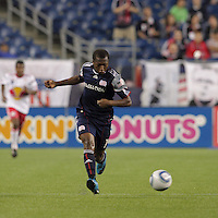 New England Revolution midfielder Sainey Nyassi (14). The New England Revolution defeated the New York Red Bulls, 3-2, at Gillette Stadium on May 29, 2010.