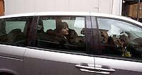 Roma 10 Marzo 2010.Renata Polverini,candidata come Presidente alle Regionali del Lazio si allontana in auto da  via dell'Umiltà sede  del PdL dopo la conferenza stampa di Silvio Berlusconi  sulle liste escluse dalle Regionali