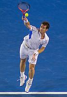 Andy Murray (GBR) (5) against Roger Federer (SUI) (1) in the Final of the Mens Singles. Federer beat Murray 6-3 6-4 7-6..International Tennis - Australian Open Tennis - Sunday 31 Jan 2010 - Melbourne Park - Melbourne - Australia ..© Frey - AMN Images, 1st Floor, Barry House, 20-22 Worple Road, London, SW19 4DH.Tel - +44 20 8947 0100.mfrey@advantagemedianet.com