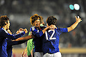 (L to R) Yuki OtsuJPN), Mizuki Hamada (JPN),.NOVEMBER 27, 2011 - Football / Soccer : Men's Asian Football Qualifiers Final Round for London Olympic Match between U-22 Japan 2-1 U-22 Syria at National Stadium in Tokyo, Japan. (Photo by Jun Tsukida/AFLO SPORT) [0003] .