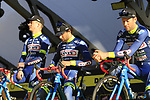 Wanty-Groupe Gobert team on stage at sign on before the 101st edition of the Tour of Flanders 2017 running 261km from Antwerp to Oudenaarde, Flanders, Belgium. 26th March 2017.<br /> Picture: Eoin Clarke | Cyclefile<br /> <br /> <br /> All photos usage must carry mandatory copyright credit (&copy; Cyclefile | Eoin Clarke)